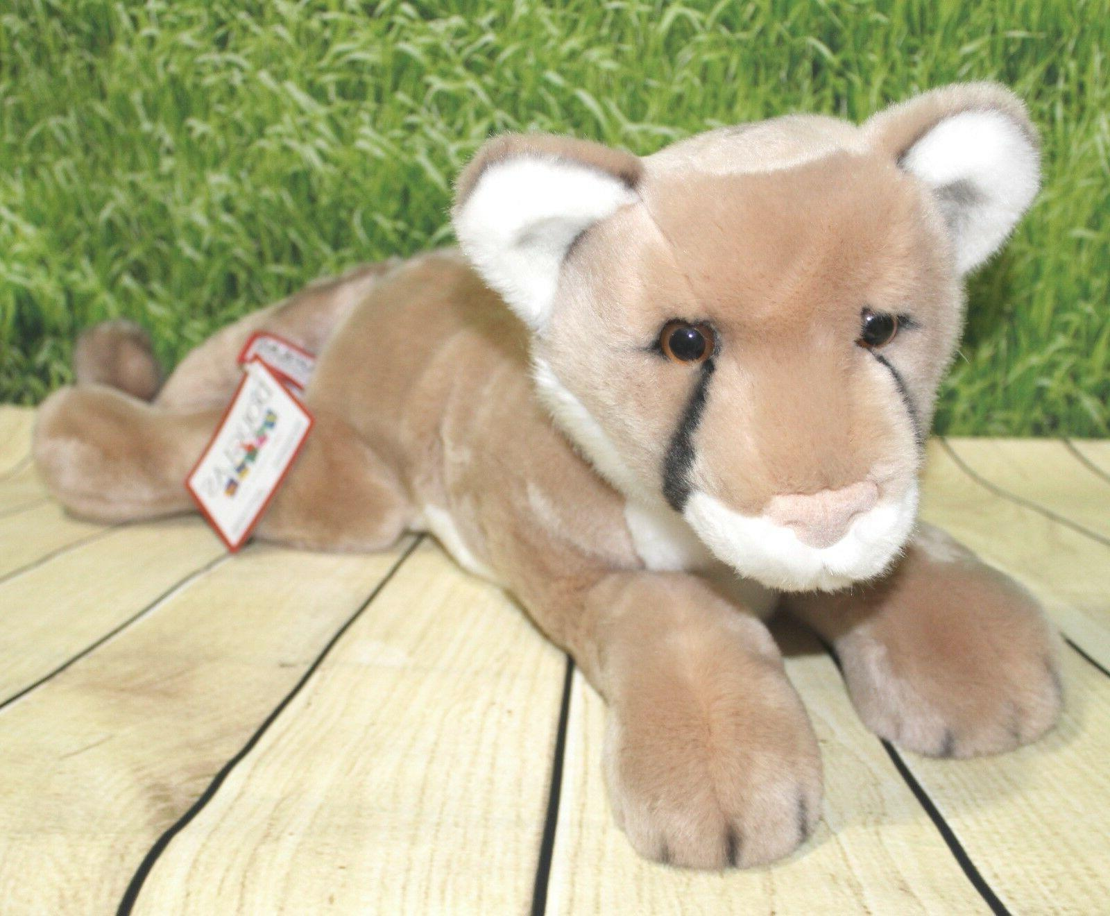 "Douglas Kelso Mountain Lion 20"" Plush Stuffed Animal Wild Ca"
