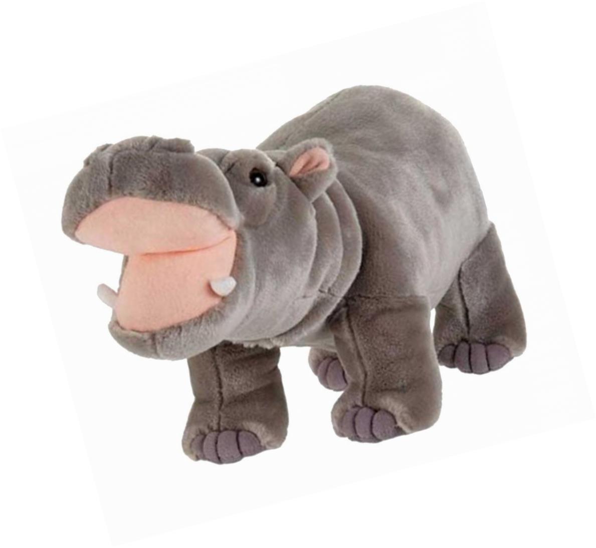 Fiesta Toys Standing Hippo Hippopotamus Plush Stuffed Animal