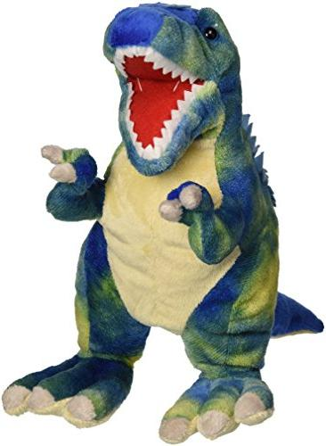 "Fiesta Toys T-Rex with Picture HT Plush, 15"", Blue"