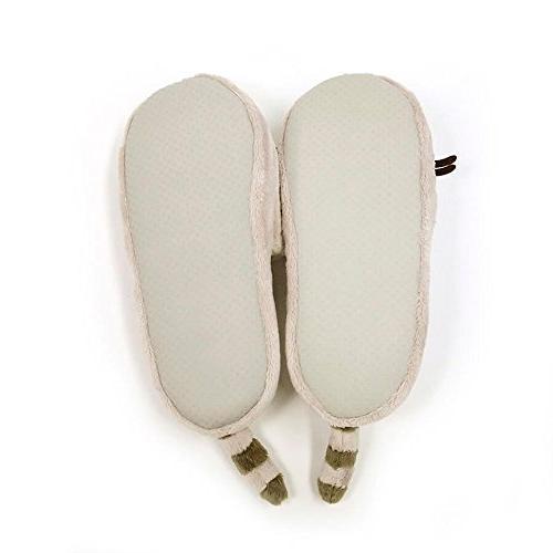 GUND Pusheen Plush Stuffed Animal Slippers, Gray,