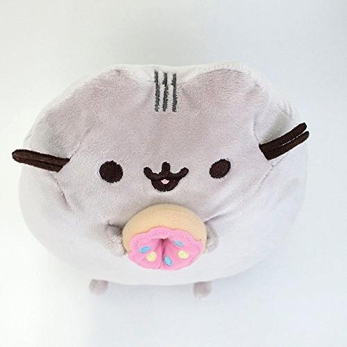 """GUND Pusheen Donut Cat Plush Gray, 9.5"""""""