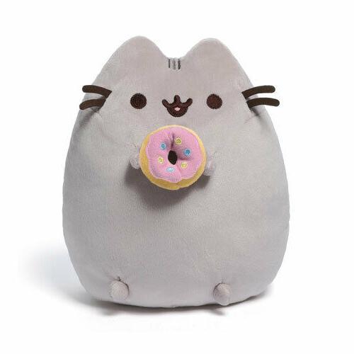 GUND Pusheen Snackables Donut Cat Plush Stuffed Animal, Gray