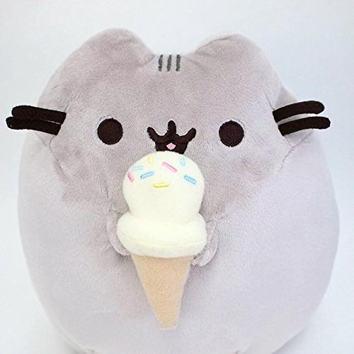 """GUND Cream Cat Plush Stuffed Animal, Gray, 9.5"""""""