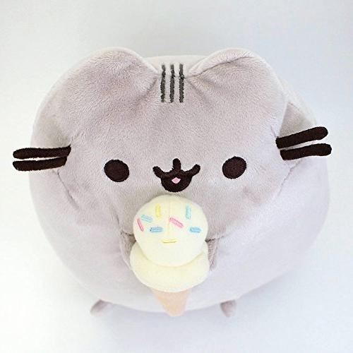 GUND Snackables Cream Cone Cat Stuffed Animal,