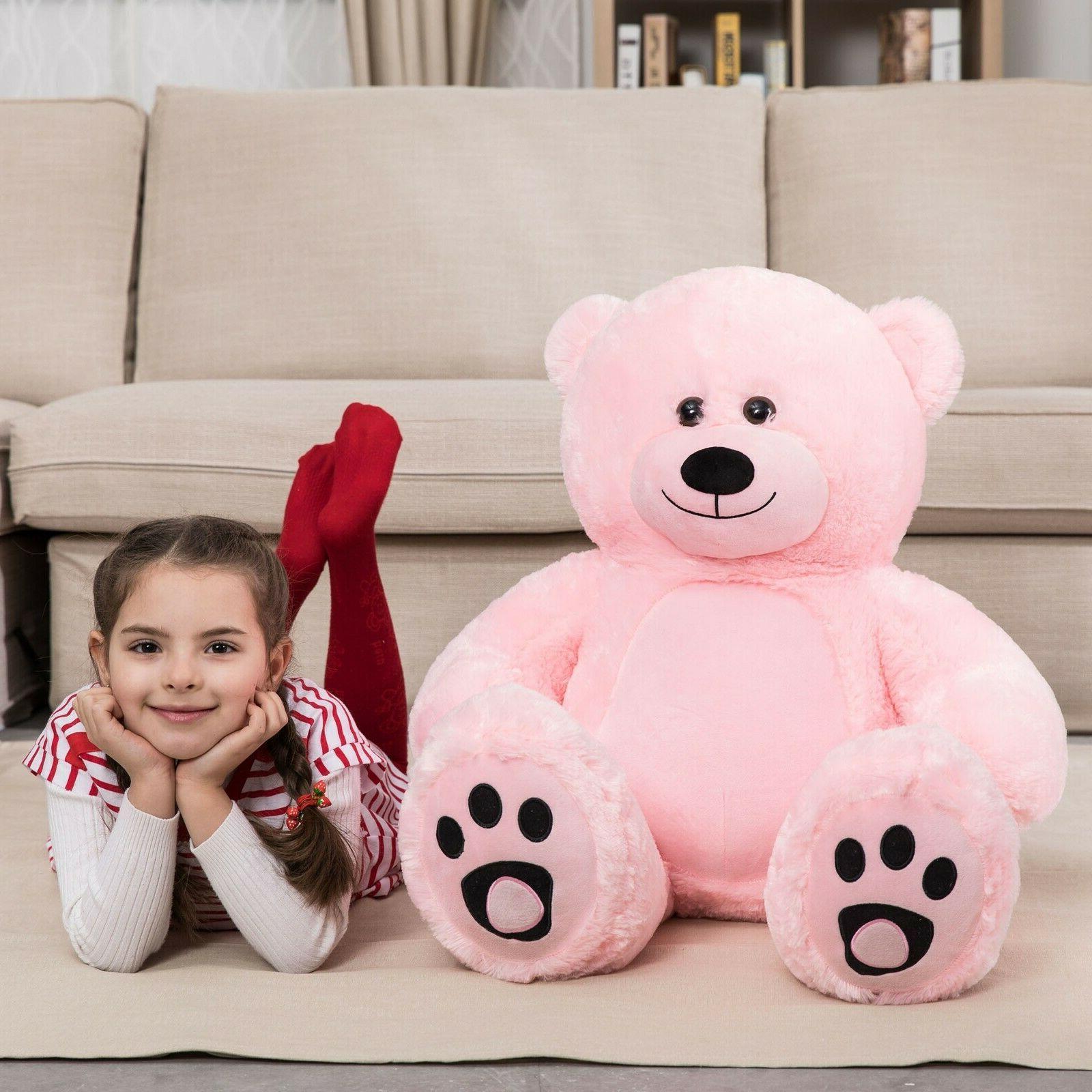 Giant Teddy Bear Soft Plush Stuffed Animals Toy Girls Birthd