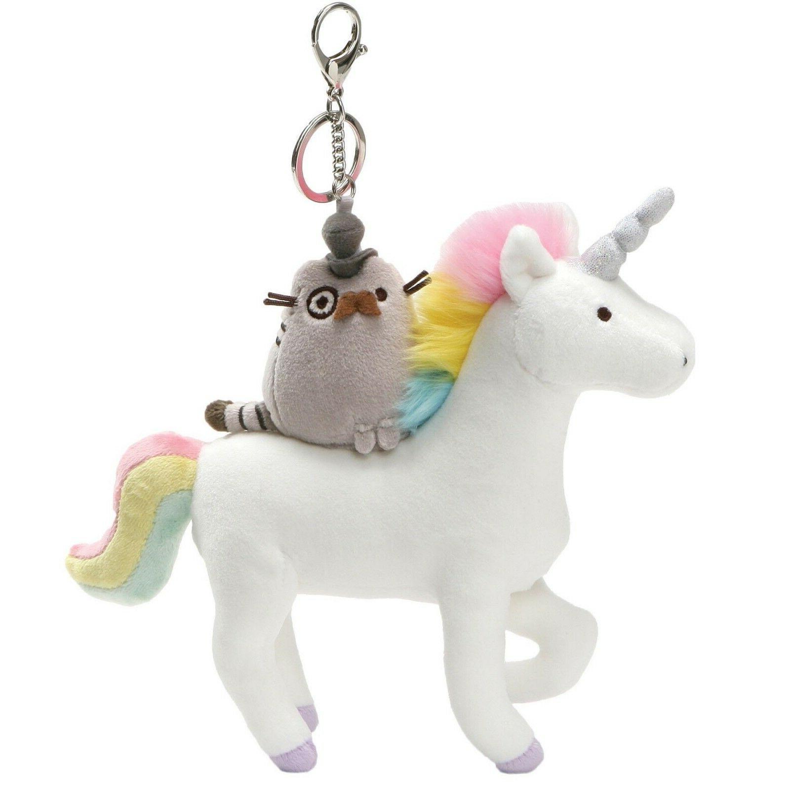 Gund 4061444 Pusheen Cat on Unicorn Deluxe Clip