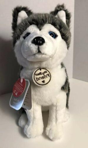 Hallmark-My Best Friend-HUSKY DOG-Plush-Stuffed Animal-Blue
