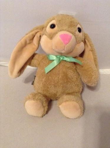 Hallmark Stuffed Animal Brown Bunny Rabbit With Long Ears &