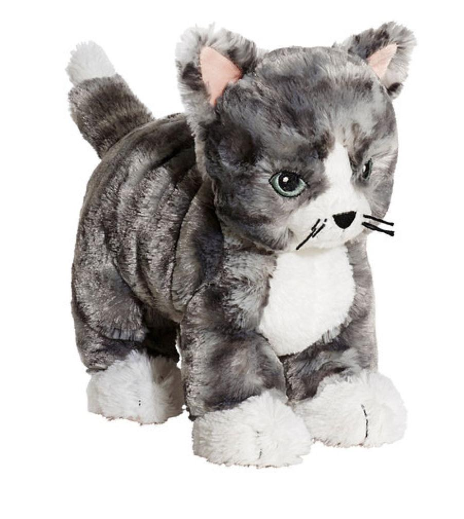 IKEA LILLEPLUTT Cat in White and Gray Stuffed Animal Toy Sof