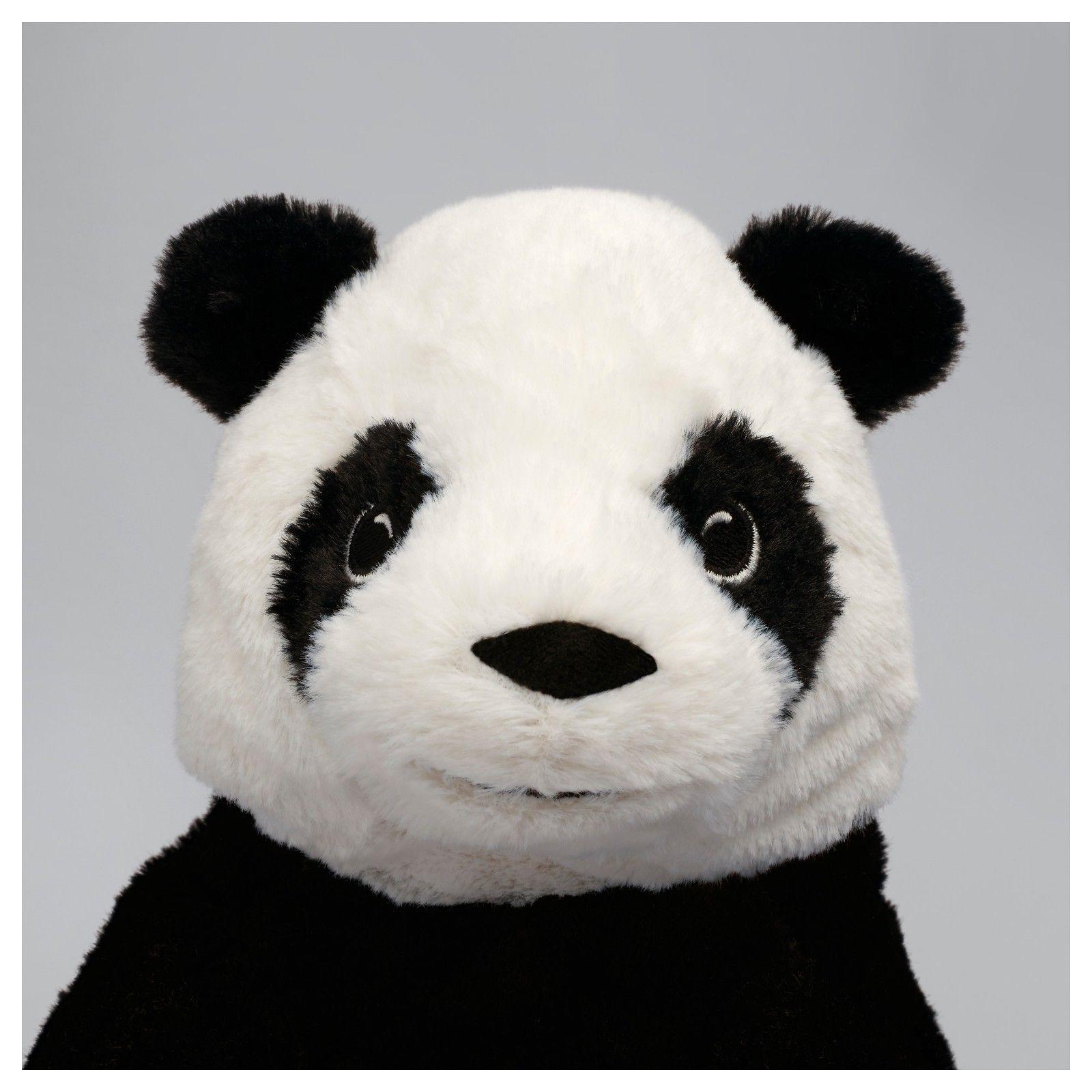 IKEA Panda Stuffed Toy Black NEW