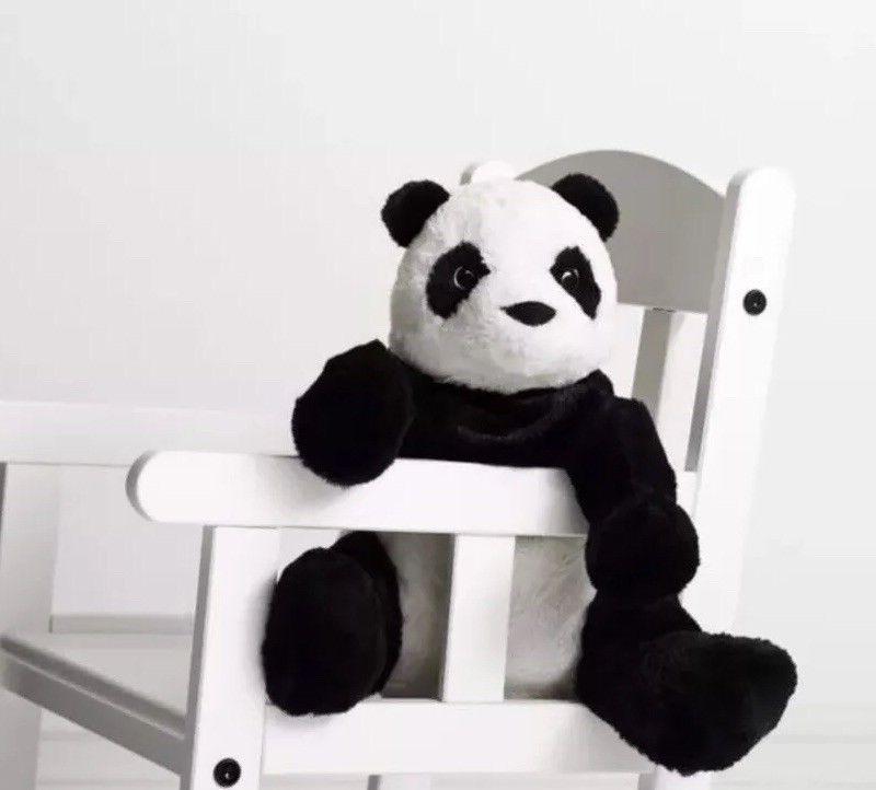 IKEA Panda Bear Stuffed Kid Toy NEW