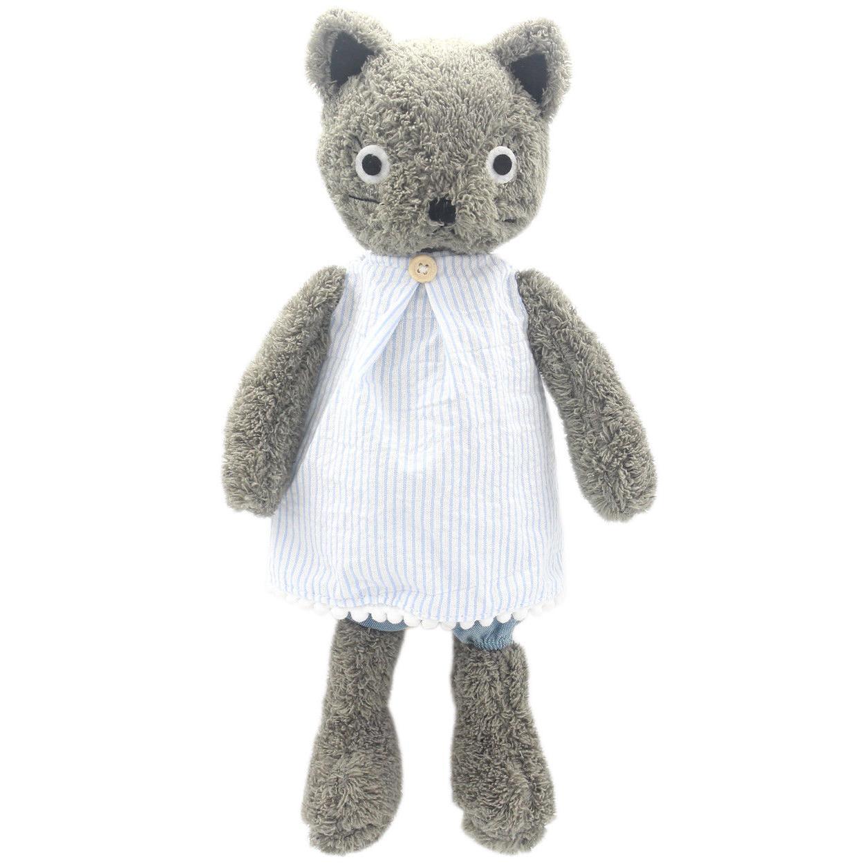 dressed stuffed animals grey cats