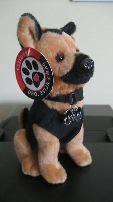 K9 Stuffed Dog Police Fire Military Canine Puppy Plush Dolls