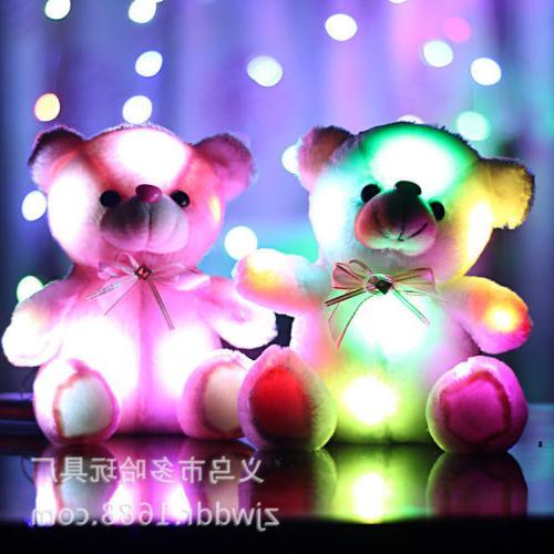 LED Inductive Teddy Animals Lighting Pink
