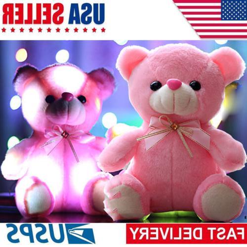 LED Inductive Teddy  Stuffed Animals Plush ToyTeddy  LED L