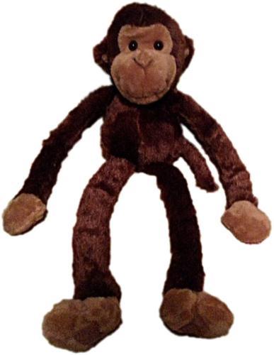 Large Hanging Hook and Loop Hand Stuffed Animal Plush Monkey