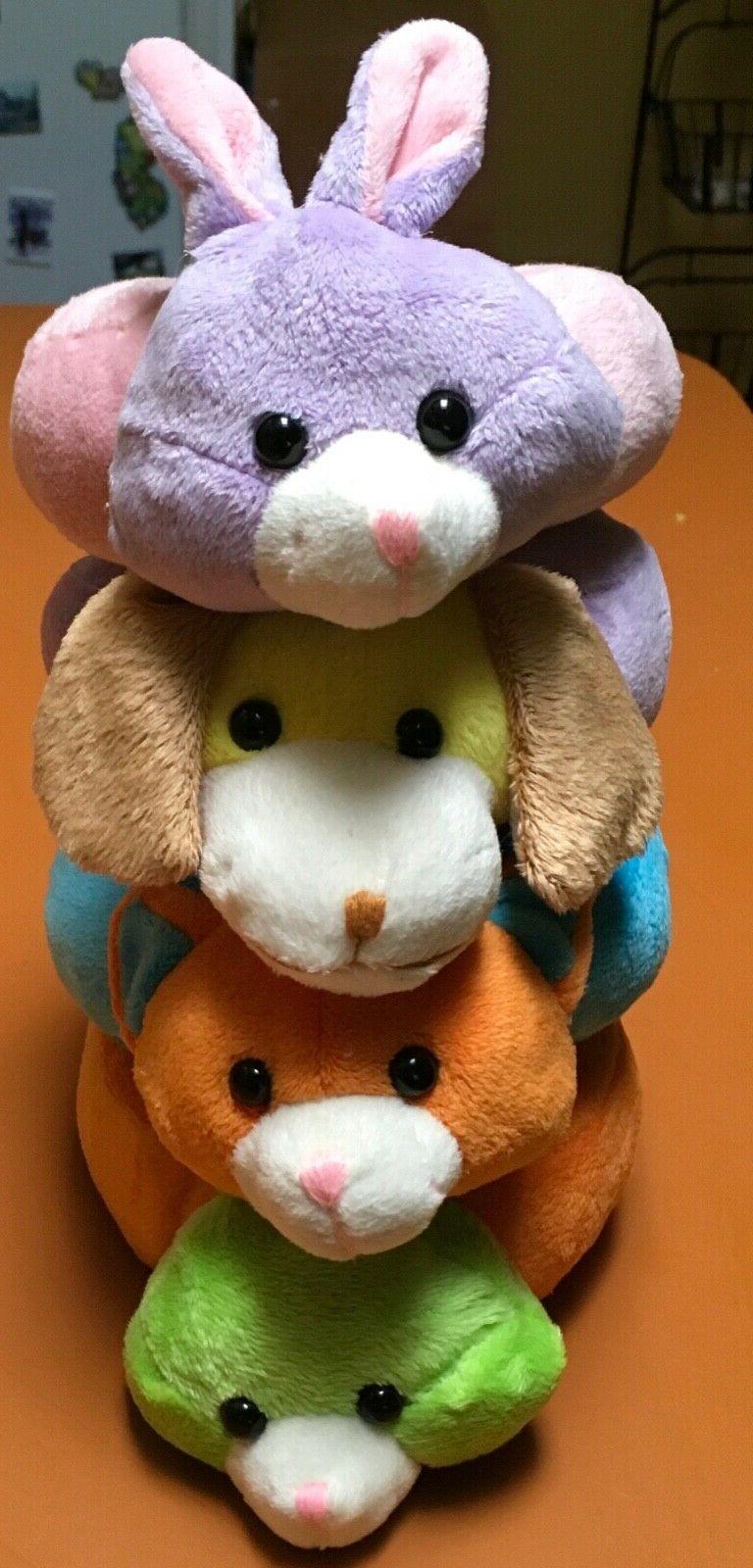 Lot of 4 Stuffed Ring Animals/Plush Toys