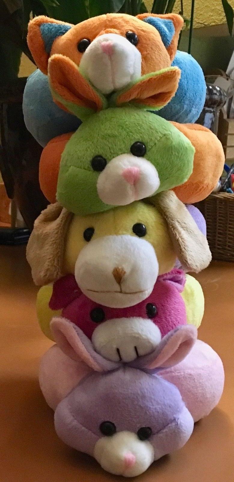 Lot of 5 Stuffed Ring Animals/Plush Toys
