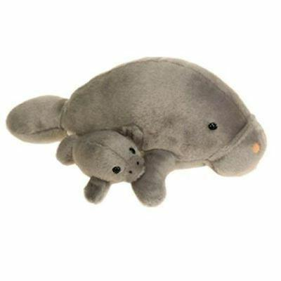 Mama Manatee with Baby Plush Stuffed Animal Toy by Fiesta To