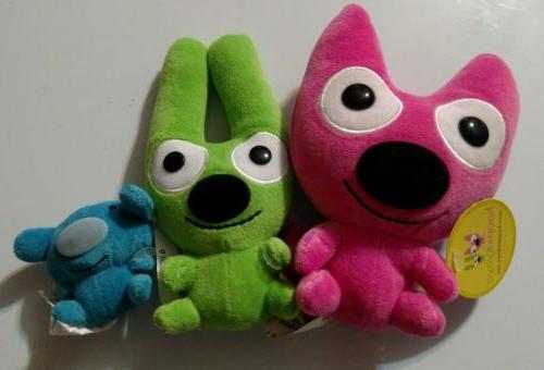 NWT Hallmark Hoops and yoyo + Piddles Trio Soft Plush Stuffe