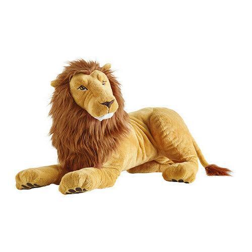 New IKEA DJUNGELSKOG Lion Large Stuffed Animal Plush Kid Sof
