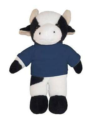"""Personalized 12"""" Cow Plush Toys Stuffed Animals w/ Imprinted"""
