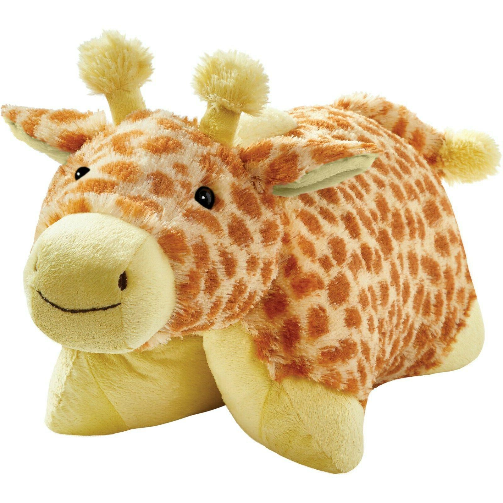 "Pillow Pets Signature, Jolly Giraffe, 18"" Stuffed Animal Plu"