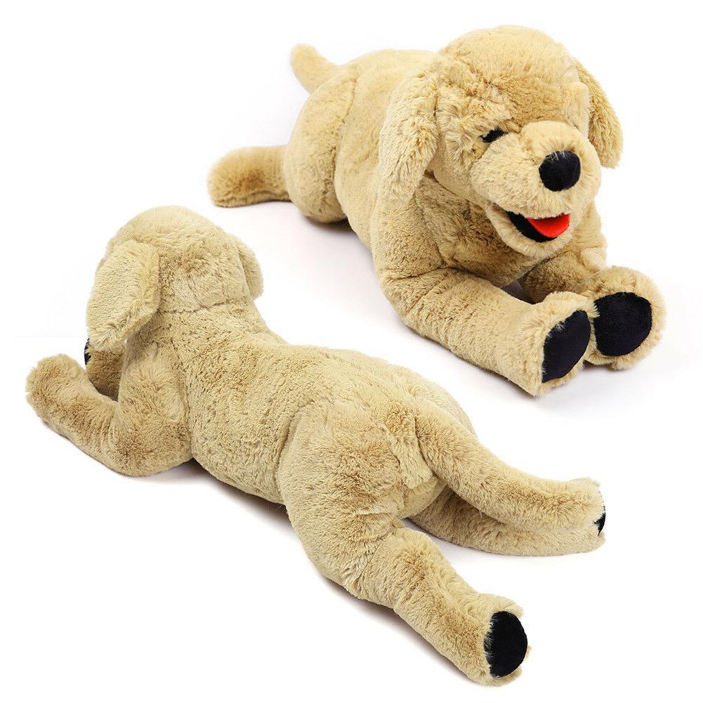 Puppy Stuffed Animal Golden Retriever Dog Soft Plush Toy Bir