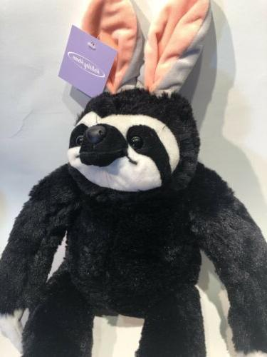 "Plush Sloth Toy Stuffed Animal Easter Ears SLOTH 18"" - BLACK"