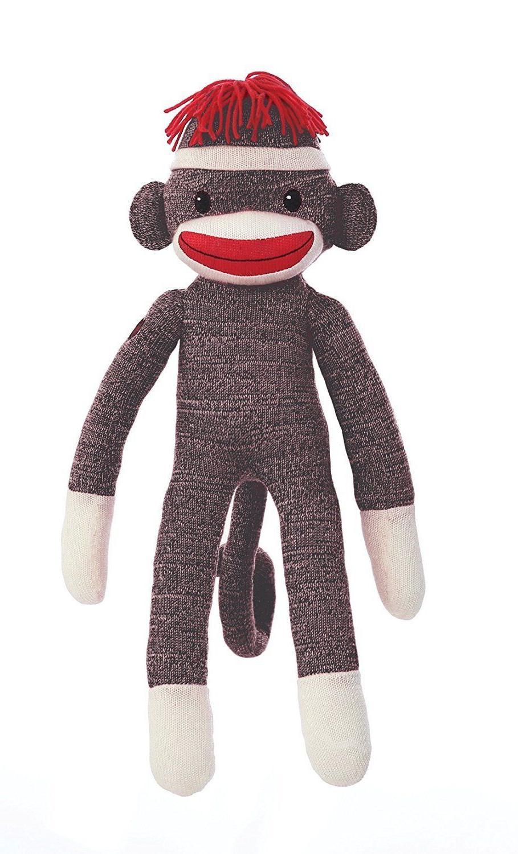 Plushland SOCK MONKEY, Plush Stuffed Animal Toy, For Kids 20