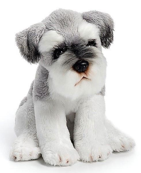 Schnauzer Dog Beanbag Plush Stuffed Animal Toy Animalcraft D