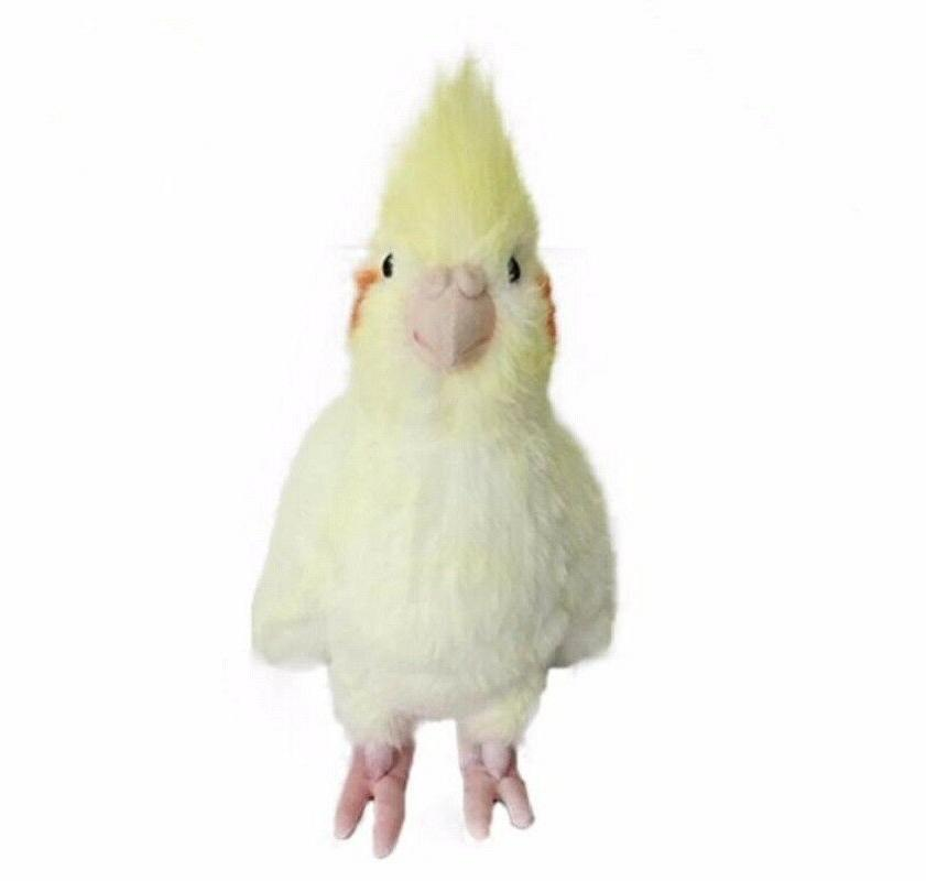 Simulation Cockatiel Parrot Bird Plush Stuffed Animal Doll Y