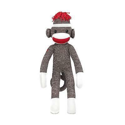 Sock Monkey Plush Stuffed Animals Kids Toys Adorable Birthda