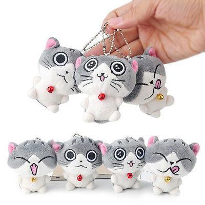 Super Cat Plush Doll Stuffed Bolster Key chain Hot