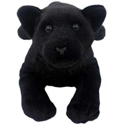 TAGLN Lifelike Stuffed Animals Toys Black Panther Plush Pill