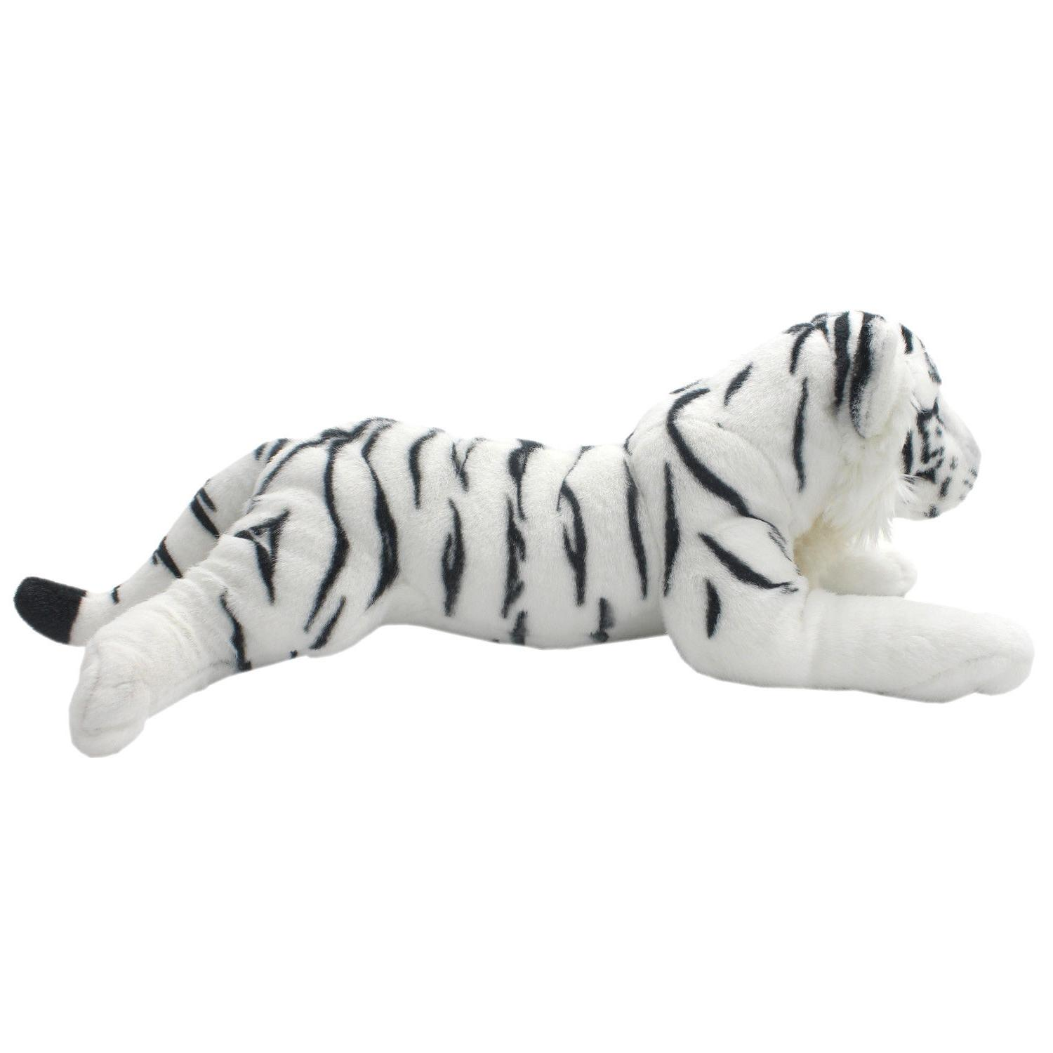 TAGLN Lifelike Stuffed Animals Toys White Tiger Plush Pillow