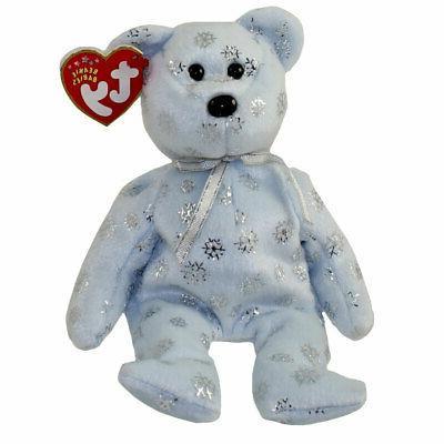 TY Beanie Baby - FLAKY the Snowflake Bear  - MWMTs Stuffed A