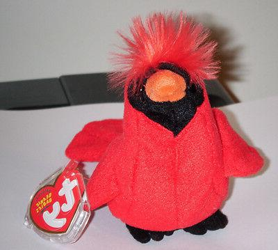 TY Beanie Baby - REDFORD the Cardinal Bird  - MWMTs Stuffed