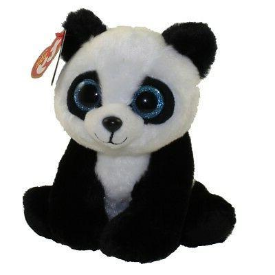 "Ty 6"" Beanie Baby Boo BABOO the Panda Stuffed Animal Plush w"