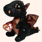 "Ty Beanie Boos 6"" 15cm Merlin the Dragon Plush Regular Stuff"