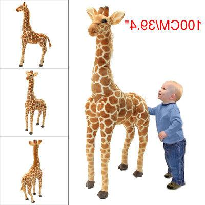 Us 40 Big Plush Giraffe Toy Doll Giant