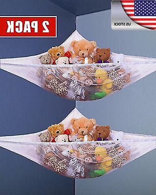 US New 2PACK Toy Hammock Hanging Storage Net Stuffed Animals