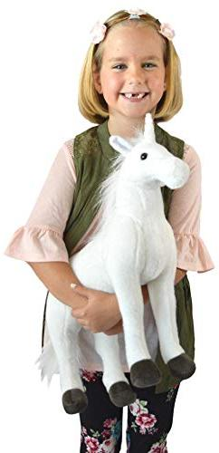 VIAHART Pandora The   19 Inch Unicorn Stuffed Plush   by Tiger Toys