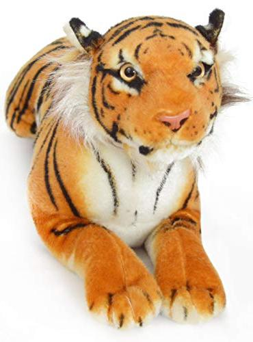 VIAHART Sandor Tiger 19 Inch Large Tiger Animal Cat |