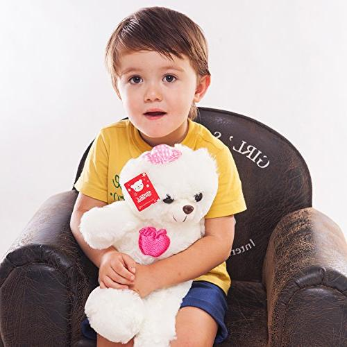 WEWILL Stuffed Animals Light Soft Plush Toys with Colorful , Animal Gifts Day 15-Inch