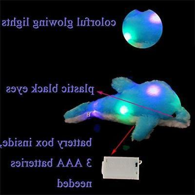 Wewill Light Stuffed Animal Glowing Dolphin