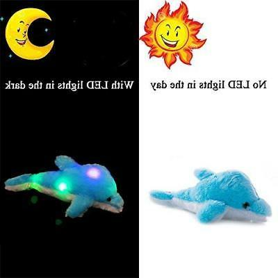 Wewill Creative Light Stuffed Toy Glowing Dolphin Plush Toys