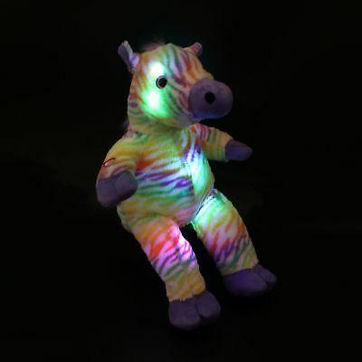 Wewill Night LED Colorful Rainbow Zebra Lifelike Animal