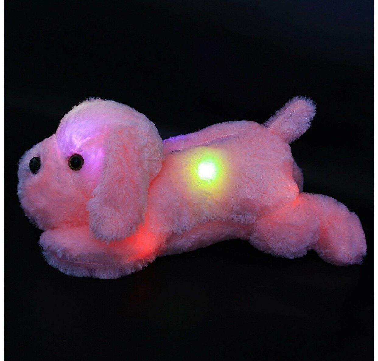 Wewill Night Light LED Stuffed Lovely Dog Glow Plush Toys Gifts