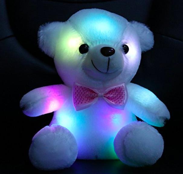 Wewill Stuffed Teddy Bear Animal Toy LED Night Color Illumin